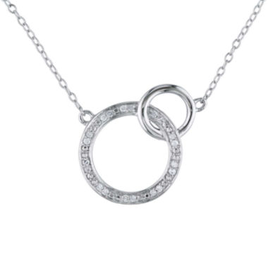 jcpenney.com | 1/10 CT. T.W. Diamond Sterling Silver Double Circle Pendant Necklace