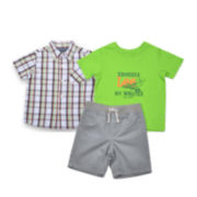 Lee® 3-pc. Twill Short Set - Toddler Boys 2t-5t