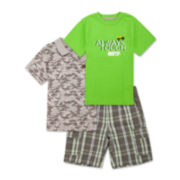 Lee® 3-pc. Poplin Cargo Short Set - Toddler Boys 2t-5t