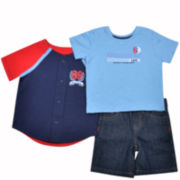 Lee® 3-pc. Denim Short Set - Toddler Boys 2t-5t