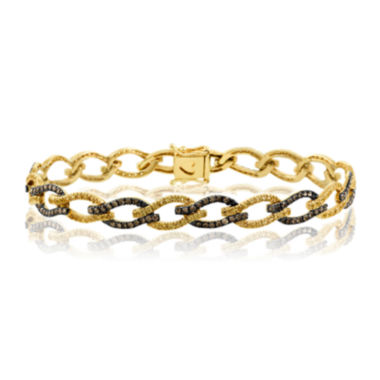 jcpenney.com | LIMITED QUANTITIES Le Vian Grand Sample Sale 1 1/7 CT. T.W. Chocolate Diamond & Genuine Sapphire 14K Honey Gold Bracelet