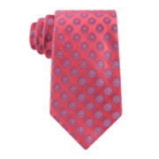 Stafford® Executive Circular Medallion Silk Tie