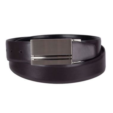 jcpenney.com | JF J. Ferrar® Reversible Feather-Edge Belt with Plaque Buckle - Big & Tall