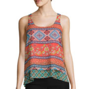 by&by Double-Layer Print Tank Top