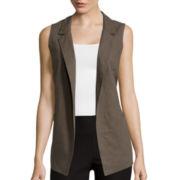 by&by Open Linen Vest