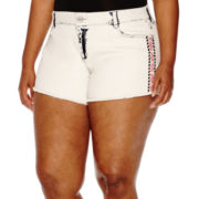 Arizona Multicolor Embroidered Shorts - Juniors Plus