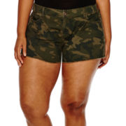 Arizona Camo Print Shorts - Juniors Plus