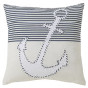 Victoria Classics Nautical Square Decorative Pillow