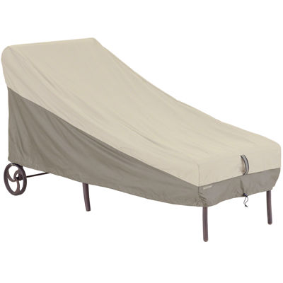 Classic accessories belltown storagesaver patio chaise for Chaise lounge accessories