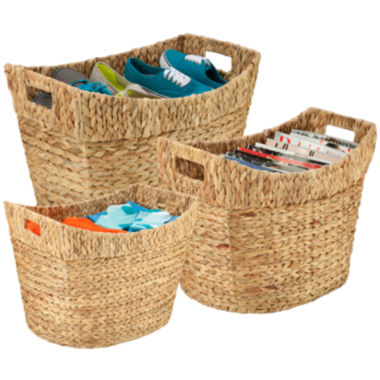 jcpenney.com | Honey-Can-Do® 3-pc. Tall Water Hyacinth Baskets