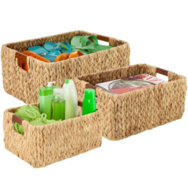 jcpenney.com | Honey-Can-Do® 3-pc. Rectangular Water Hyacinth Baskets