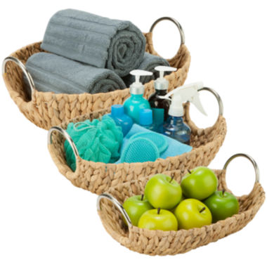 jcpenney.com | Honey-Can-Do® 3-pc. Oval Water Hyacinth Basket Set