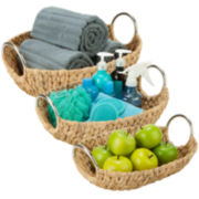 Honey-Can-Do® 3-pc. Oval Water Hyacinth Basket Set