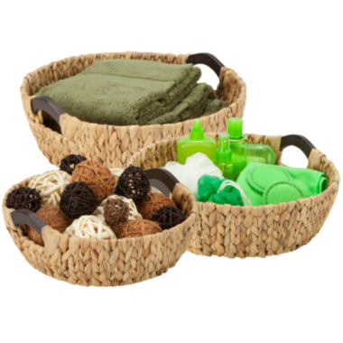 jcpenney.com | Honey-Can-Do® 3-pc. Round Natural Basket Set