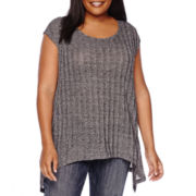 Boutique+ Sleeveless Swing Knit Top - Plus