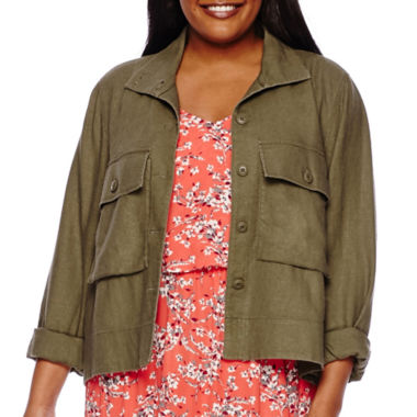 jcpenney.com | Boutique+ Military Swing Jacket - Plus