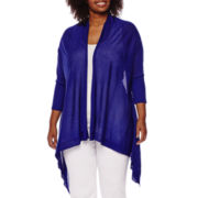Worthington® ¾-Sleeve Flyaway Cardigan - Plus