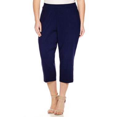 jcpenney.com | Worthington® Pull On Slim Crops - Plus