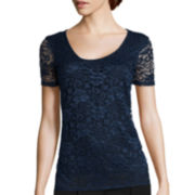 i jeans by Buffalo Short-Sleeve lace shirt