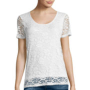 i jeans by Buffalo Short-Sleeve lace shirt