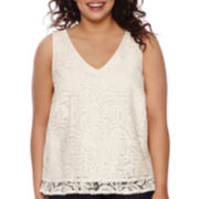 Decree® Tiered Flounce Tank Top - Plus