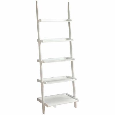French Country Delaney 5 Shelf Ladder Bookshelf