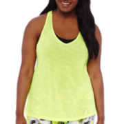 City Streets® T-Back Tank Top - Juniors Plus