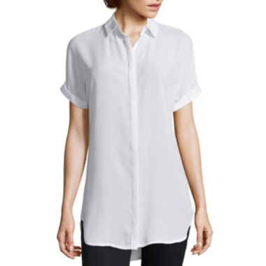 jcpenney.com | Worthington® Short-Sleeve Button-Front Blouse