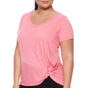 Xersion™ Short-Sleeve Tie-Knot Tee - Plus
