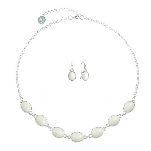 Liz Claiborne Womens 2-pc. White Jewelry Set
