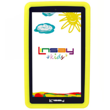 "jcpenney.com | LINSAY® 7"" KIDS FUNNY QUAD CORE TAB 1280x800 IPS Screen 8GB DUAL CAM with Yellow Kids Defender Protective Case"