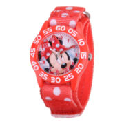 Disney Kids Minnie Mouse Easy-Read Polka Dot Strap Watch