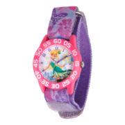 Disney Kids Tinkerbell Easy-Read Fast Strap Watch