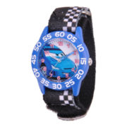 Disney Kids Cars Easy-Read Blue Fast Strap Watch