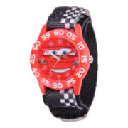 Disney Kids Cars Easy-Read Red Fast Strap Watch