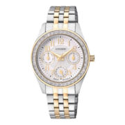 Citizen® Womens Crystal-Accent Two-Tone Watch ED8134-50A