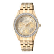 Citizen® Womens Crystal-Accent Gold-Tone Watch ED8132-55P