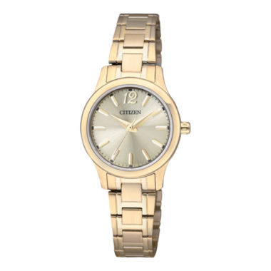 jcpenney.com | Citizen® Womens Gold-Tone Stainless Steel Watch EL3032-53P