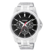 Citizen® Mens Silver-Tone Stainless Steel Watch AG8340-58E