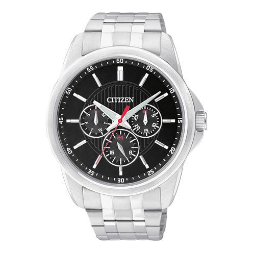 Citizen® Mens Black Dial Stainless Steel Watch AG8340-58E