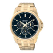 Citizen® Mens Gold-Tone Stainless Steel Watch AG8342-52L