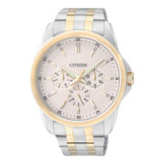 Citizen® Mens Gold-Tone Stainless Steel Watch AG8344-57A