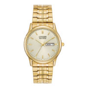Citizen® Eco-Drive® Mens Gold-Tone Dress Watch BM8452-99P