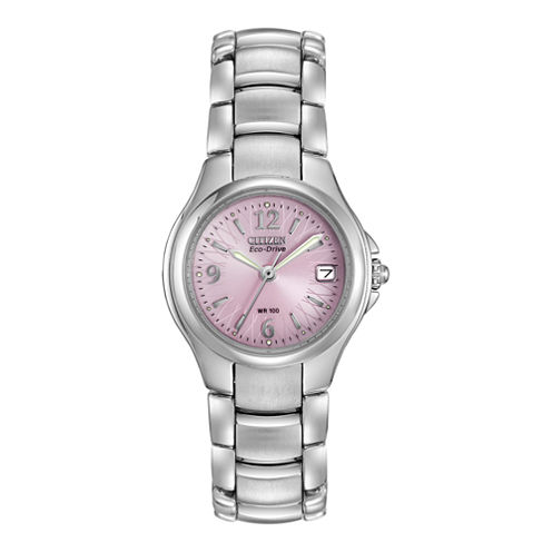 Citizen® Eco-Drive® Womens Pink Dial Watch EW1170-51X