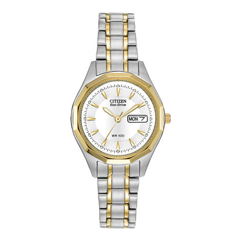 Citizen® Eco-Drive® Womens Two-Tone Watch EW3144-51A