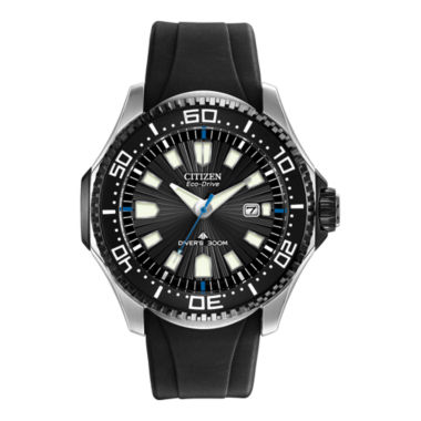 jcpenney.com | Citizen® Eco-Drive® Mens Black Silicone-Strap Dive Watch BN0085-01E