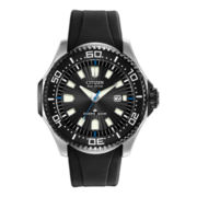 Citizen® Eco-Drive™ Mens Black Rubber-Strap Dive Watch BN0085-01E