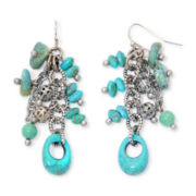 Aris by Treska Simulated Turquoise Dangle Earrings
