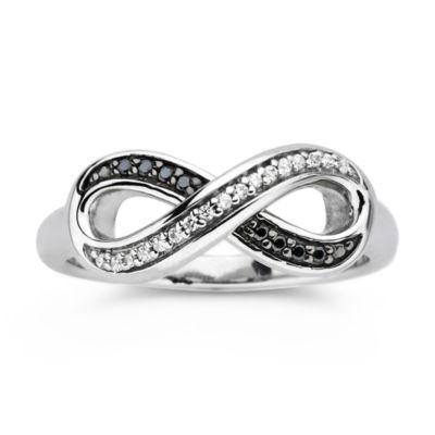 Fine Jewelry 1/10 CT. T.W. Black & White Diamond Ring Tq58R89KzJ