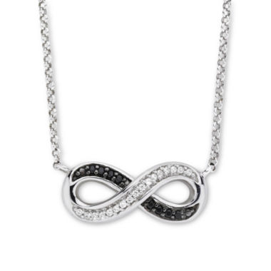 jcpenney.com | Infinite Promise 1/10 CT. T.W. White & Color-Enhanced Black Diamond Necklace